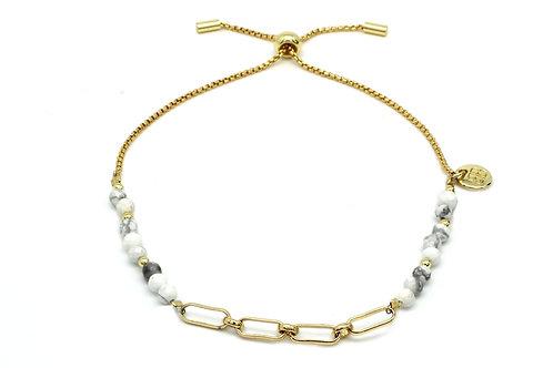 Grey & Gold Chain Bracelet