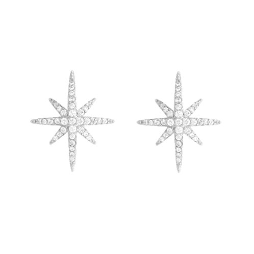Crystal Snowflake Star Earrings