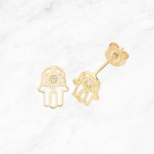 9CT Gold Hamsa Earrings