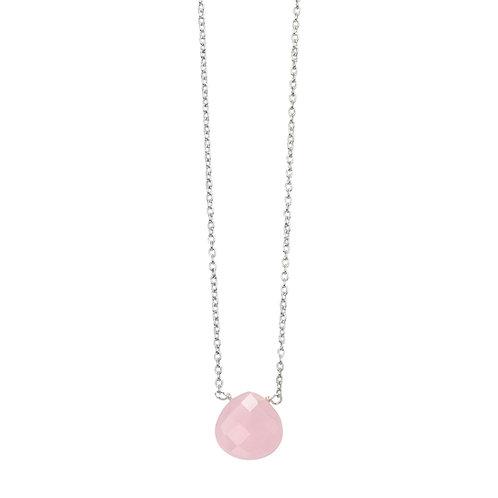 Teardrop Pink Quartz Necklace