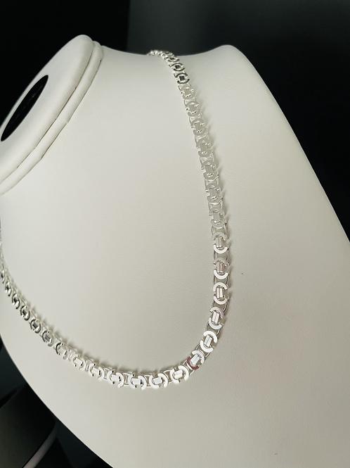 Silver Flat Byzantine Necklace