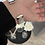 Thumbnail: Silver Mesh Open Cuff Bangle