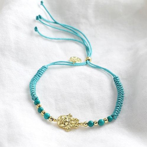 Hamsa Cord Bracelet