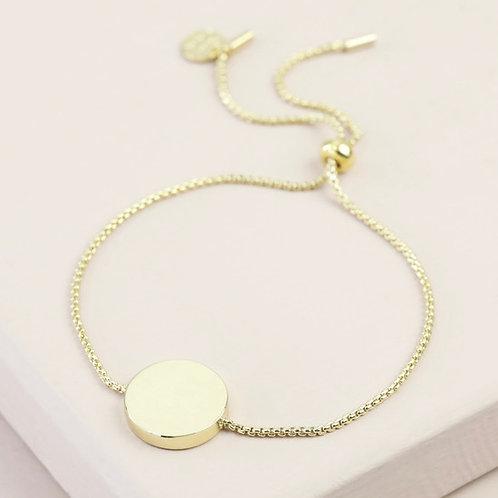 Disc & Chain Bracelet - Rose Gold & Gold