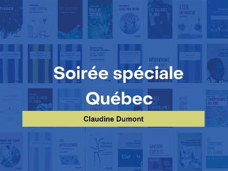 3/11 à 19h - Soirée spéciale Québec en partenariat avec la Délégation générale du Québec à Paris