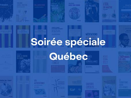 Soirée spéciale Québec en partenariat avec la Délégation générale du Québec à Paris