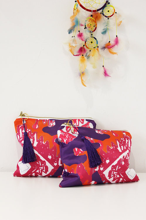Digitally printed clutch