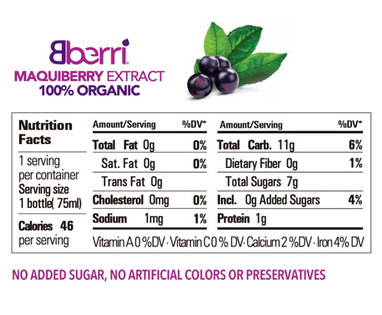 Maqui Extract Nutrition Facts
