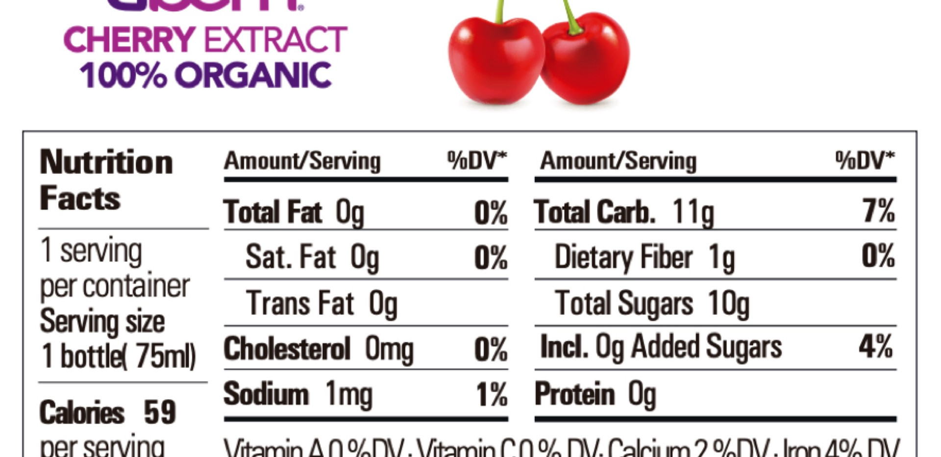 Cherry Extract Nutrition Facts
