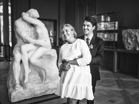 Mariage à Paris. Mairie du 7e, Musée Rodin & jolie brasserie. P&R