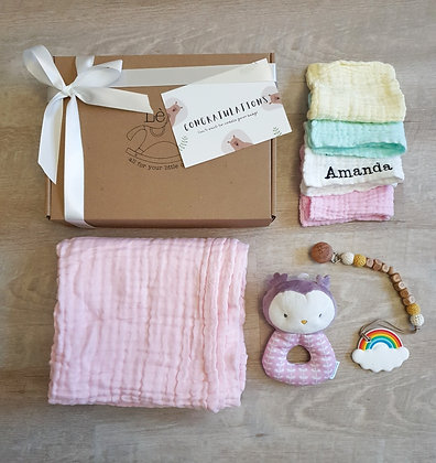 Baby Gift Set - Personalized Bath Towel and Handkerchiefs
