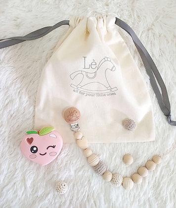 Baby Gift Set - Teething Starter Kit (Peach)