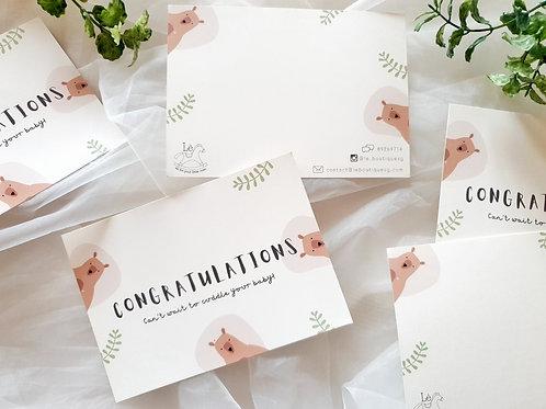 Lè Congratulations card