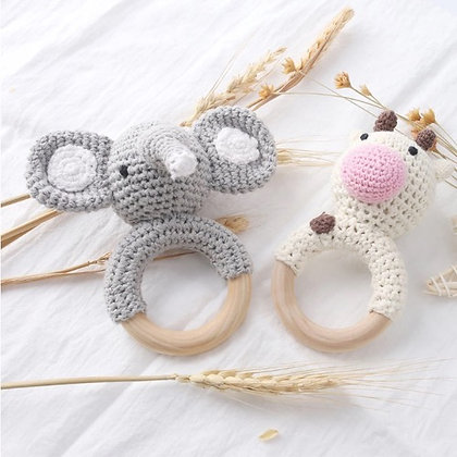 Handheld Baby Rattle - Elephant