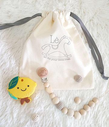 Baby Gift Set - Teething Starter Kit (Lemon)