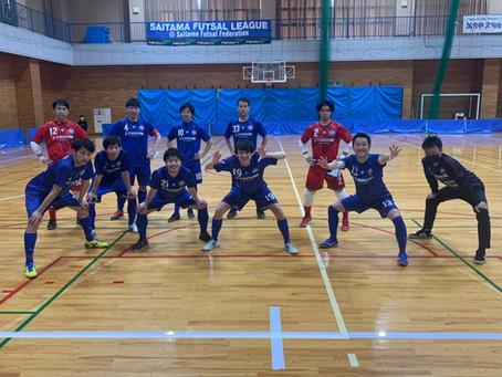 埼玉県フットサルリーグ2部 第2節試合結果