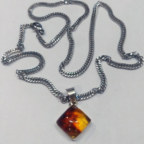 Amber Necklaces - Square
