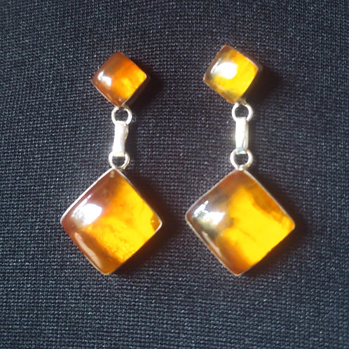 Amber Earrings (square)