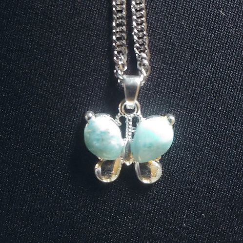 Larimar Butterfly Necklace