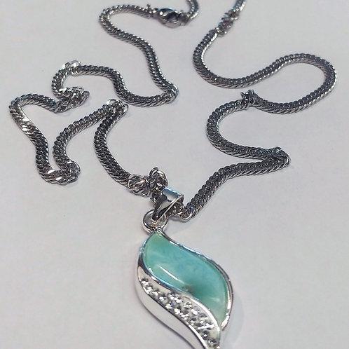Larimar Wave Necklace