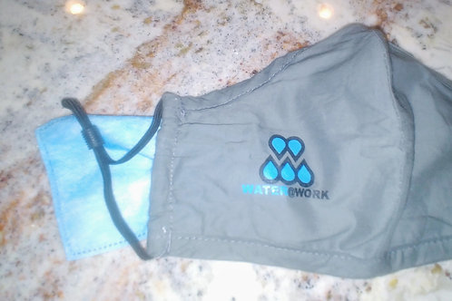 Water@Work Logo Covid Face Masks