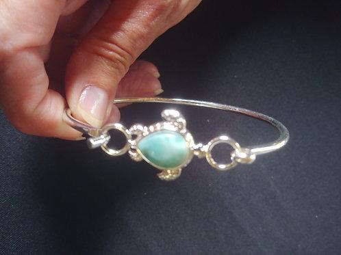 Larimar Turtle Bangle Bracelets