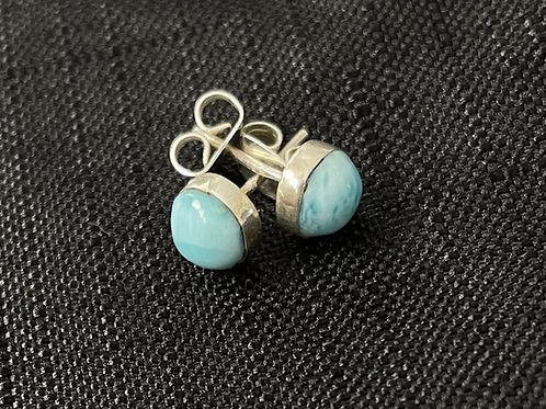Larimar Medium Ball Stud Earrings