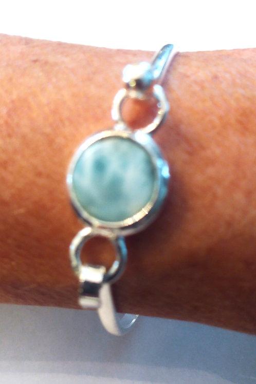 Larimar Round Bangle Bracelets