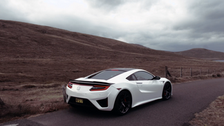 Honda NSX in the Mourne Mountains