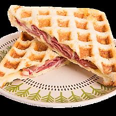 Beef & Cheese Waffle Sandwich