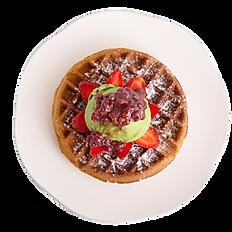 Matcha Azuki Waffle