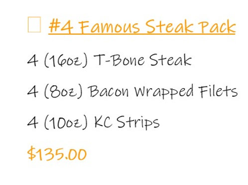 Bundle #4 Famous Steak Pack