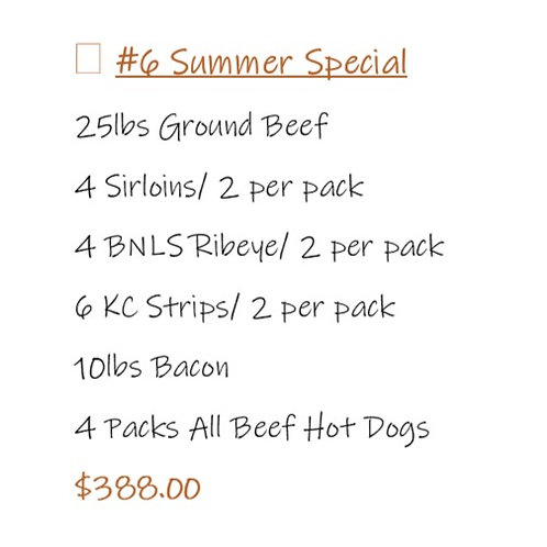 Bundle #6 Summer Special