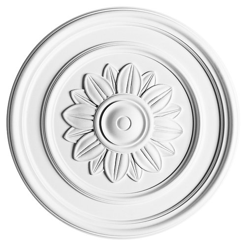 Simple rosette with a circular pattern of flower petals