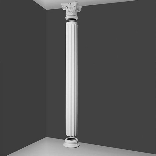 Full Column Fluted  With Corinthian Top 242cm