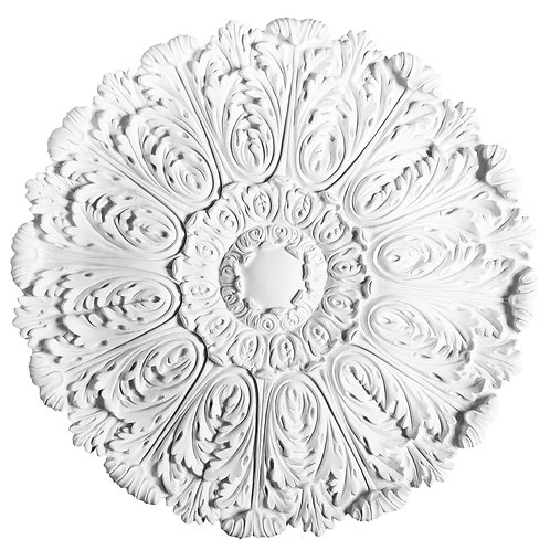 Large rosette with pattern of stylised acanthus leaves