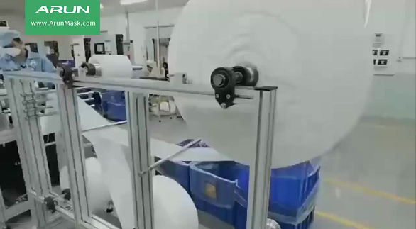An authentic KN95 face mask factory