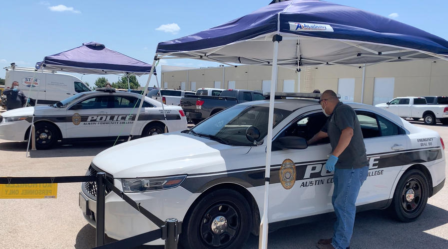 ACC Police Department Vehicle Disinfection