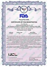 Arun KN95 Face Mask FDA Registrarion