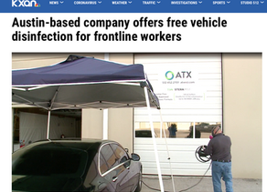 Austin-based company offers free vehicle disinfection for frontline workers