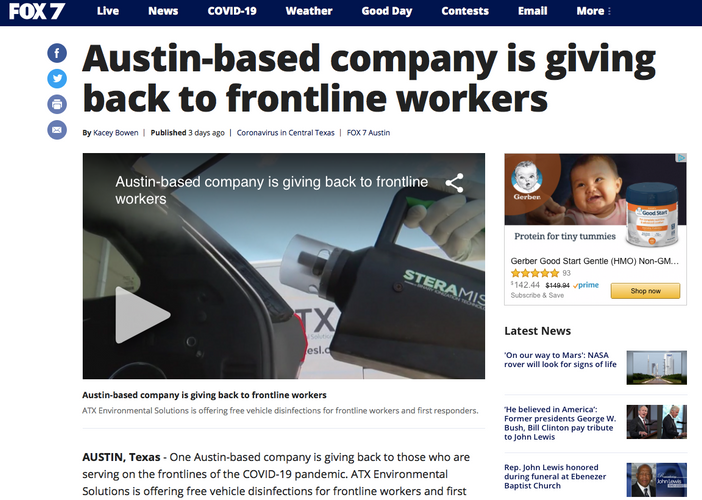 Austin-based company is giving back to frontline workers