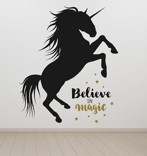 """Vinilo decorativo """"unicorn"""""""