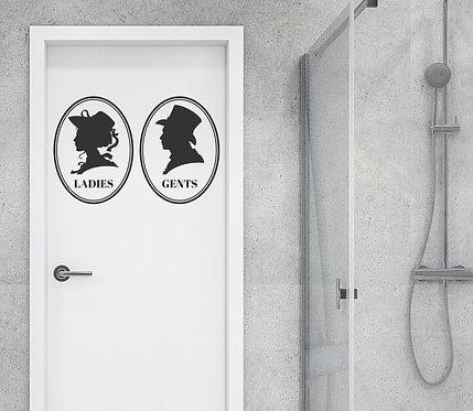 """Vinilo troquelado """"cartel wc"""""""