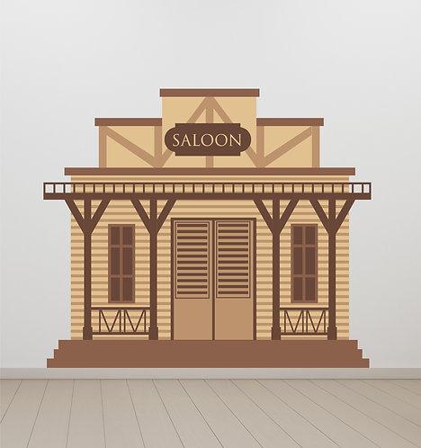 """Vinilo impreso """"saloon"""""""