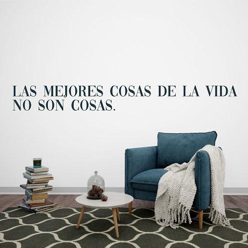 """Vinilo decorativo """"cosas vida"""""""