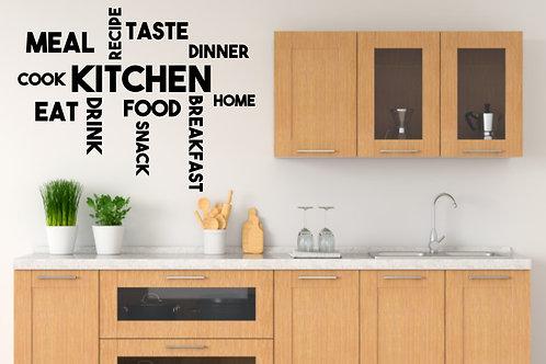 """Vinilo decorativo """"kitchen"""""""