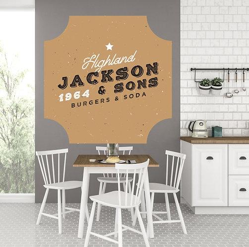 """Vinilo impreso """"jackson"""""""