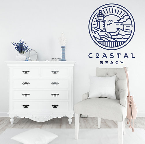 "Vinilo decorativo ""Coastal beach"""