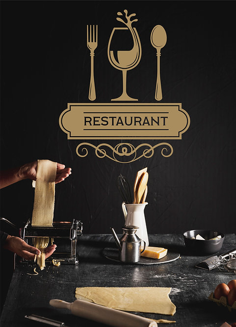 "Vinilo decorativo ""restaurant"""