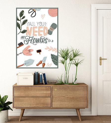 "Vinilo impreso ""flowers"""